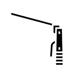 Plasma welding glyph icon vector