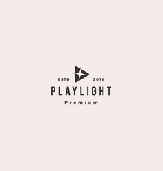play light flare blitz bright logo icon vector image