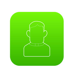 Priest icon green vector