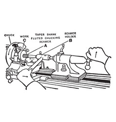 Reaming gear vintage vector