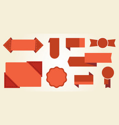 red signs and badges icon illustration vector image