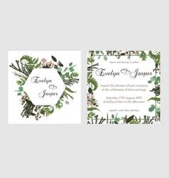 Set for wedding invitation greeting card save vector
