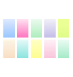 Set gradient backgrounds pastel color palette vector