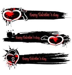 set of banners with valentine is day vector image