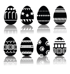 silhouettes of easter eggs vector image