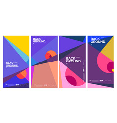 Simple minimalist colorful abstract geometric vector
