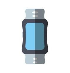 Sport smart watch wearable technology shadow vector