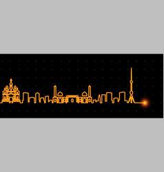 Tashkent light streak skyline vector