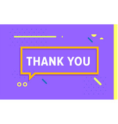 thank you in design banner template for vector image