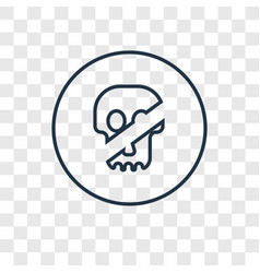 toxic concept linear icon isolated on transparent vector image
