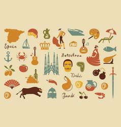Traditional symbols spain vector