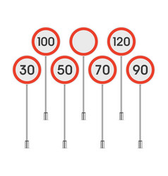 Traffic signs speed limit vector