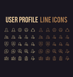 user profile line icon for app mobile website vector image