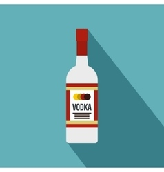 Vodka icon flat style vector image