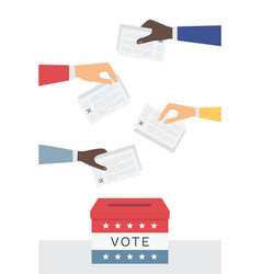 voting and election day and campaign in united vector image