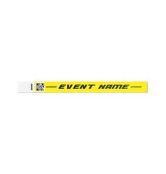 Yellow bracelet for event entrance mockup vector