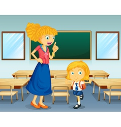 A teacher and a student vector image vector image