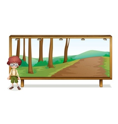 boy and board vector image vector image