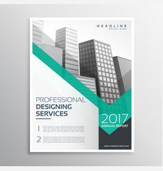 professional brochure or leaflet template design vector image vector image