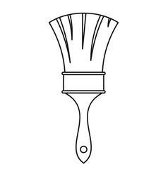 brush icon outline style vector image vector image