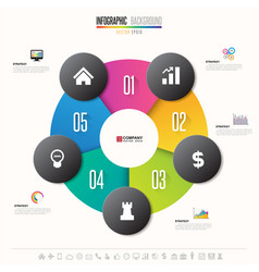 Infographics design template vector