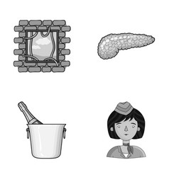 Justice restaurant and other monochrome icon in vector
