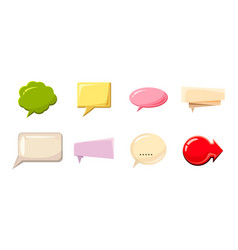 speech bubble icon set cartoon style vector image