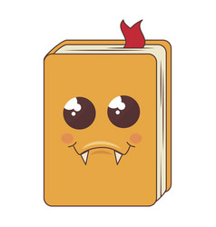 Text book comic character vector