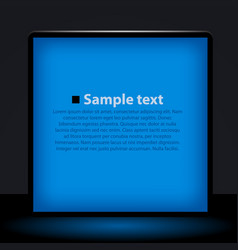 blue light box vector image