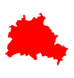 map of berlin vector image vector image