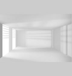 modern room walls and windows empty hi-tech room vector image