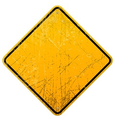 Rusty Yellow Sign vector image