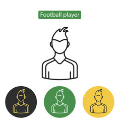 soccer player avatar icon vector image vector image