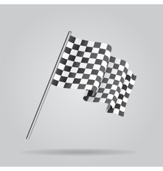 Waving Checkered racing flag vector image