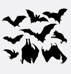 bat animal silhouette vector image
