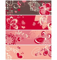 cute love banners vector image vector image