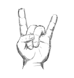 hand gesture icon Rock music design vector image