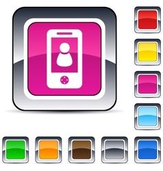 person square button vector image vector image