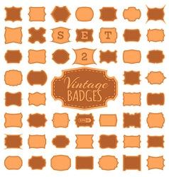 SET 2 50 vintage badges vector image