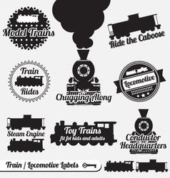 Trains Labels vector image
