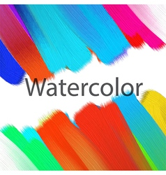 Abstract acrylic painted background vector image