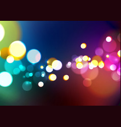 abstract bokeh light colors background vector image