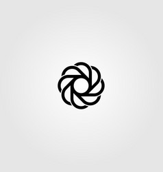 abstract circle grinding monoline logo minimalist vector image