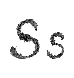Abstract letter S logo icon black and white design vector