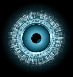 abstract technology digital circle eye vector image
