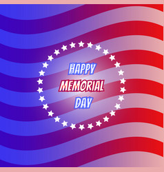 American flag for memorial day us memorial day vector