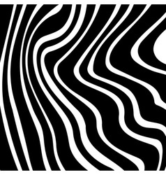 Black white striped background for your design vector image