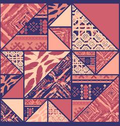 Boho violet background vector