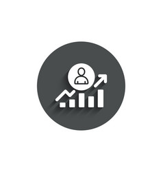Business results simple icon career growth chart vector