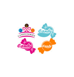 candy icon template set vector image